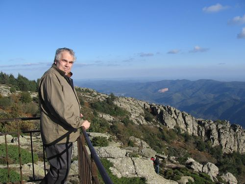 Gerry on Mt Caroux